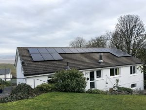 Solar PV on a domestic house